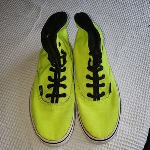 Neon green Van's shoes